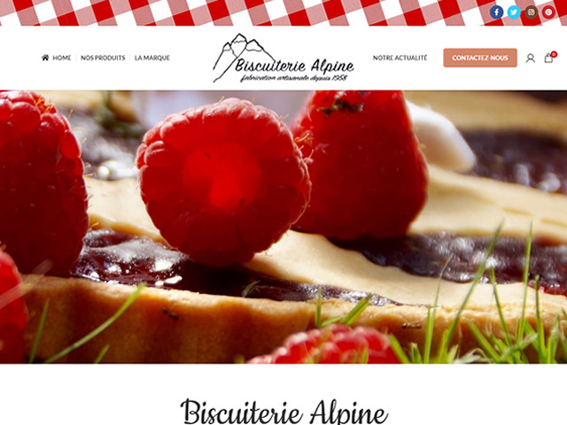 création site internet Biscuiterie Alpine.fw