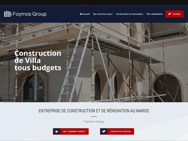 création site internet Faymos Construction.fw