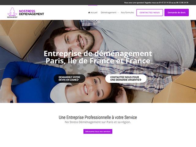 création site internet NoStress Démenagement.fw
